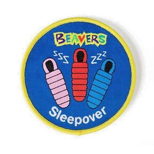 Beaver Scouts Sleepover Fun Badge. OFFICIAL SUPPLIER.