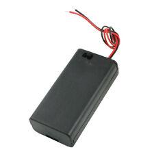 2PCS Battery Box Holder per 2x1.5V batterie AA w Copertina On / Off HKIT