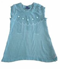 naartjie girls size 4 small blue sleeveless shirt - sunflower lace design