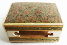 étui pour petite boite d'allumettes en bois et marqueterie oriental