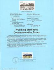 #9007 Wyoming Statehood Stamp #2444 USPS Souvenir Page