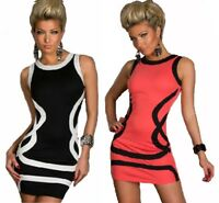 I-CURVES women's black or pink patterned body-con mini dress size(8-10)