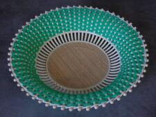 Corbeille ronde à fruits ou pain, Vintage plastique tressé