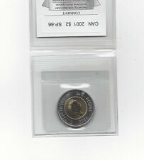 **2001**Coin Mart Graded Canadian, Toonie*SP-66*