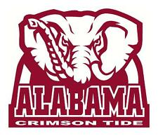 UNIVERSITY OF ALABAMA CRIMSON TIDE HUGE 9X10 ELEPHANT CAR WINDOW DECAL STICKER
