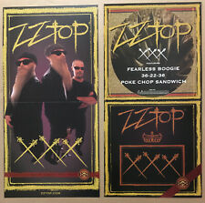 Zz Top Rare 1999 Double Sided Promo Poster Flat for Triple Cd Mint Usa 12x24