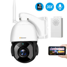 30X Zoom 1080P WiFi IP Security PTZ Camera Outdoor Two-Way Audio 360 Home 2MP