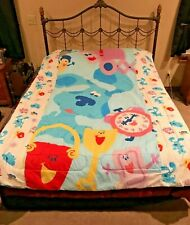 Blue's Clues Twin Reversible Comforter Bed Spread + Pillowcase