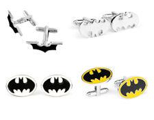 4 Pairs Men's Jewelry Black Cufflinks Batman Superhero Silver Wedding Cuff Links