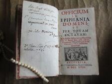 Officium i n Epiphania domini e t per totam octavam , 1718