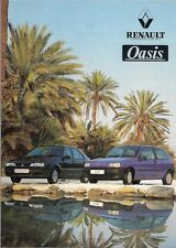 Renault Clio & 19 Oasis Limited Editions 1993 UK Market Leaflet Sales Brochure