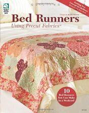 Lit coureurs en utilisant des tissus prédécoupées quiltng Motif Livre - 10 modèles marron Kathy