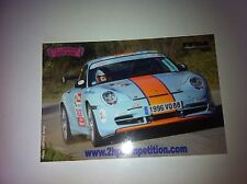 CP POSTCARD CARTOLINA PORSCHE 911 KIEFFER RALLY RALLYE WRC 2008