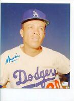 Maury Wills LA Los Angeles Dodgers 3x World Series Signed Autograph Photo COA