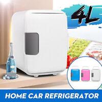 4L Cooler Warmer Car Home Dorm Mini Fridge Freezer Refrigerator Portable NEW