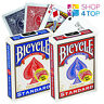 """2 DECKS BICYCLE MAGIC SHORT 1/16"""" PLAYING CARDS TRICKS RED BLUE USA NEW"""