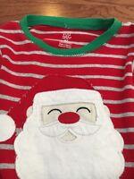 Carters Santa Claus red long sleeve red 4t pajama snug fit top shirt Boys
