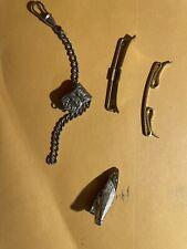 Lot Gold Tone Silver Tone Vintage 4pc Men's Tie Clip Clasp Bar