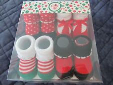 Little Me 4 Pairs Baby Booties-0-12 Months-Free Shipping-New In Package