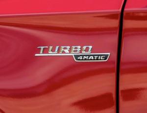 2X Original Genuine Mercedes Turbo 4Matic Emblem Badge Set