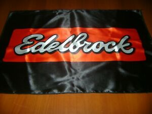 "Edelbrock Logo 20x30"" Flag Banner American Garage Racing Shop Decor MuscleCar"