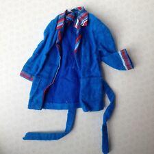 Vintage Barbie Ken 1972 Mod rayas anchas despierto con Túnica Chaqueta Azul Oscuro #3377