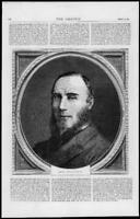 1872 Antique Print Portraits - Lord Northbrook  Thomas Baring (253)