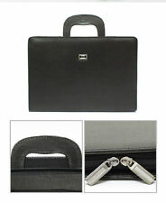 Briefcase Soft Bag Portfolio Document Organizer Business Men Office Faux Leather