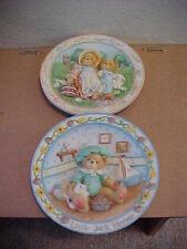 2 Cherished Teddies Nursery Rhymes Plates Little Jack Horner & Jack and Jill