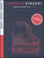 Ludovico Einaudi Graded Pieces for Piano Grades 3 4 5 Sheet Music Book/Audio