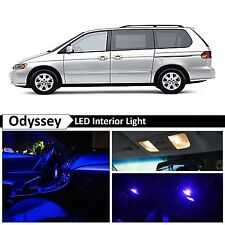 Blue Interior + License Plate LED Light Package Kit for Honda Odyssey