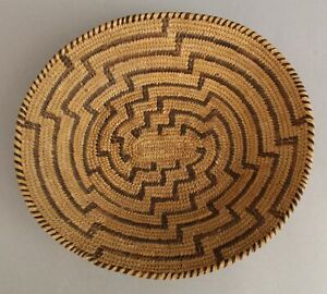 Antique 19thC Western Native American Indian Oval Pima Basket, No Reserve