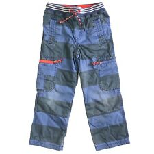 Mini Boden Boys Blue Striped Combat Trousers - Size 6 Years