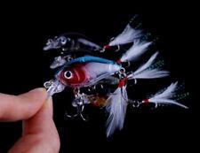 5 Fishing Lures Crank Baits Mini Crankbait 4g Lure Bait Feathers UK sell #25