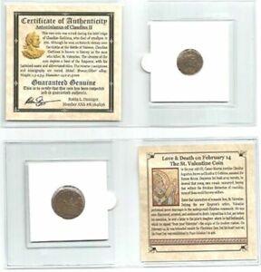 St Valentin Bronze Pièce de Monnaie Claudius II, Mini Album ~ Saint & Story