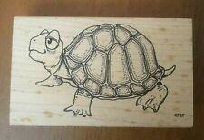 VIP Large Cartoon Turtle Tortoise by Visual Image Printery Rubber Stamp