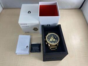 NIXON watch 51-30 A083-510 Chronoall gold black mens A083510 [Parallel import