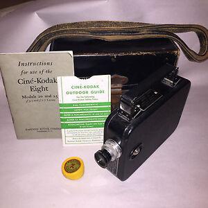 CINE-KODAK EIGHT MODEL 25, 8mm film, 13mm f/2.7 - f/16 .F-2.7 lens, 1932-47
