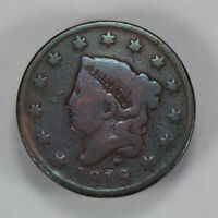 1818 1c CORONET HEAD LARGE CENT, NICE EARLY COPPER LOT#N424