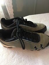 Under Armour Men's Baseball Cleats Shoes Size 11 Tan Suede Black Trim