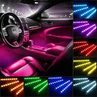 Car Interior Floor Decor Strip Lamps Atmosphere Parts Accessories Rgb Led Lights
