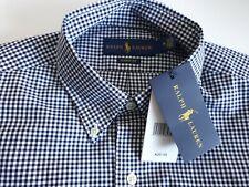BLACK Polo Ralph Lauren SHIRT Top M CLASSIC Men Plaid Gingham -BNWT medium