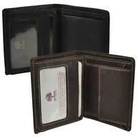 Mens Leather Compact Shirt Wallet by Woods Great Value Stylish Gift Box