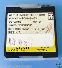SC9103-463 ALPHA INDUSTRIES CAPACITOR CHIP RF MICROWAVE PRODUCT 53/units total