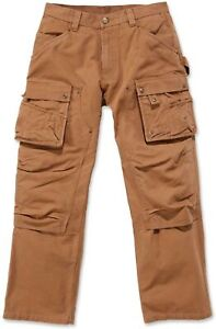 Carhartt Herren Hose Duck Multi Pocket Tech Pant Carhartt® Brown