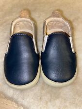 OLD SOLES BABY SHOES NAVY, GREY & CHAMPAGNE SIZE 3 (6-9 Months)