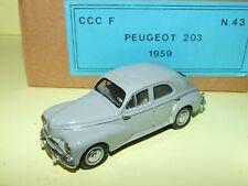 PEUGEOT 203 1959 Gris CCC KIT Monté 1:43