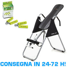 EVERFIT TURNING SLIM Inversion Table Panca ad Inversione + Coppia Hand Grips