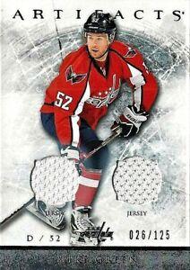 2012-13 Artifacts Dual Jerseys Card of Former Cap D Mike Green 026/125 (12-13)