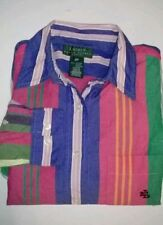 Petites 100% Cotton Casual Button Down Shirt Women's Tops & Blouses
